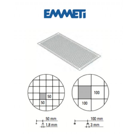 Malla metálica fijadora (en láminas)