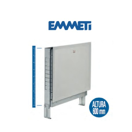 Caja en chapa galvanizada, con marco y puerta plastificada, color blanco RAL 9010