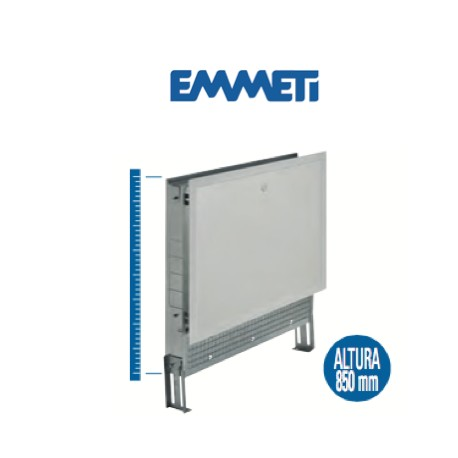 Caja en chapa galvanizada, con marco y puerta plastificada, color blanco RAL 9010, para tabiques de 120 mm.