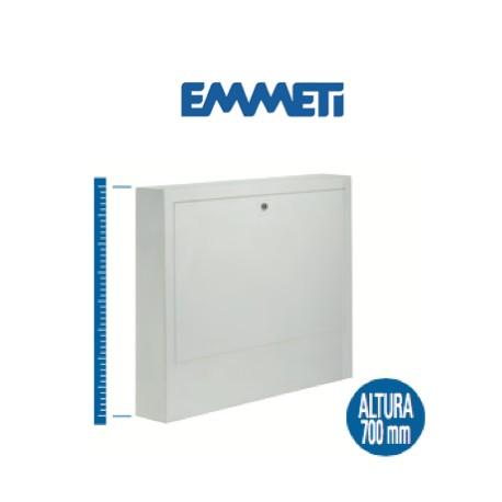 Caja de superficie en chapa galvanizada, con marco y puerta plastificada, color blanco RAL 9010